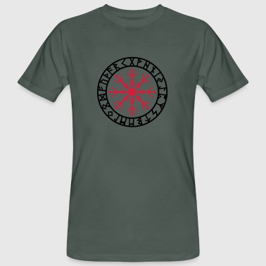 Aegishjalmur, Helm of awe, Sigil, Rune magic Camisetas - Camiseta ecológica hombre