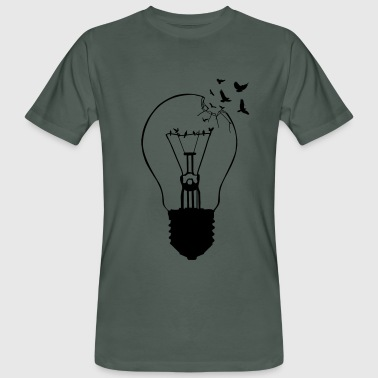 Outlaw, breaking out of the old light bulb - Men's Organic T-shirt