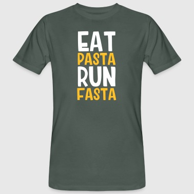 Eat Pasta Run Fasta - Men's Organic T-Shirt