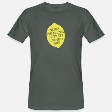 Juicer Juicing-When Life Gives You Lemons - Lemon Ginger - Men's Organic T-Shirt