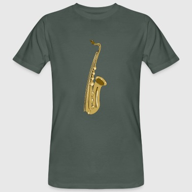 Playing the Sax - Männer Bio-T-Shirt