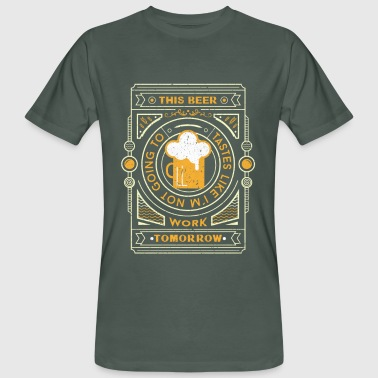 this beer tastes like... - T-shirt ecologica da uomo