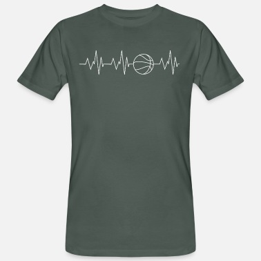 Basketball Heartbeat Basketball - Mannen Bio-T-shirt