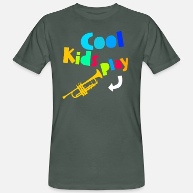Trumpet Cool Kids Play Trumpet Musician Trumpet Player - Camiseta ecológica hombre
