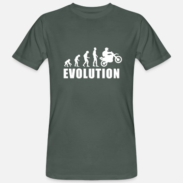Motocross Comic EVOLUTION MOTOCROSS - Männer Bio-T-Shirt