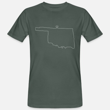 Oklahoma City OKLAHOMA heart - Men's Organic T-Shirt