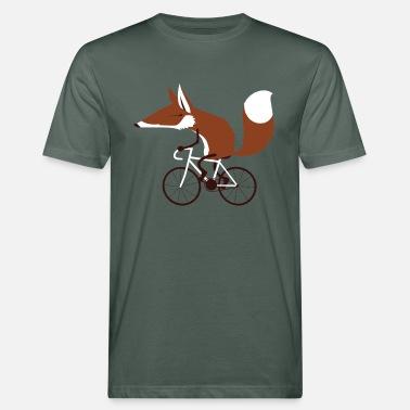 Cycling Fox - Men s Organic T-Shirt ae9d07122