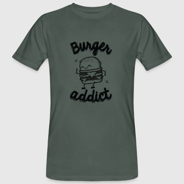 Burger Addict - Økologisk T-skjorte for menn