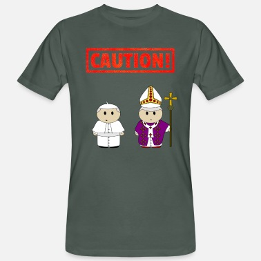 Catholic Priest Funny Attention priest fun gift logo funny - Men's Organic T-Shirt