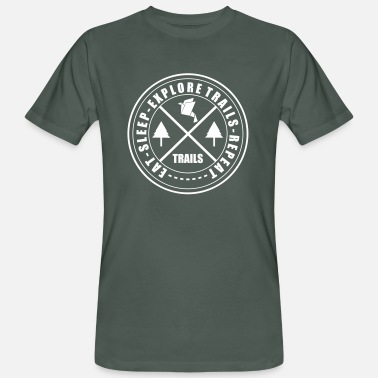 Trail LIFESTYLE CIRCLE OF TRAILS - Men's Organic T-Shirt
