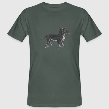 Dog on wheels - Men's Organic T-Shirt