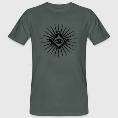 Spiritual Masonic symbol, all seeing eye, freemason - Men's Organic T-Shirt