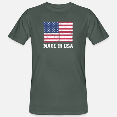 Made In Usa Bandera de EE. UU. / Made in USA - Camiseta ecológica hombre