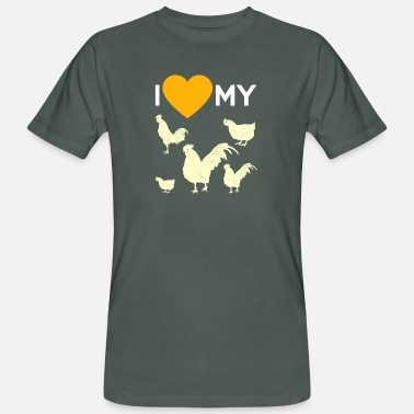 Ordeñar Regalo de I Love My Chickens Farmer Ranch Countryside - Camiseta ecológica hombre