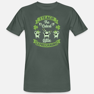 St Patricks Day Leraar St Patrick's Day I Teach Cutest - Mannen bio T-shirt