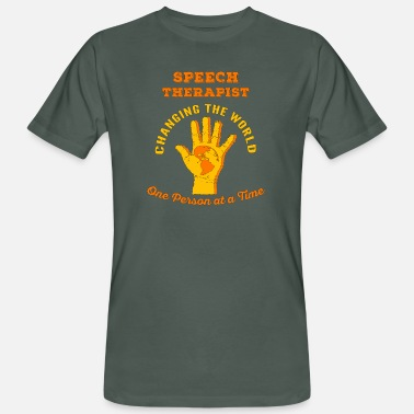 Speech Speech Therapist Changing the World ST Therapy - Men's Organic T-Shirt