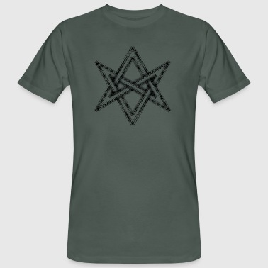 Unicursal hexagram, Golden Dawn, Kabbalah, Magick - Ekologisk T-shirt herr