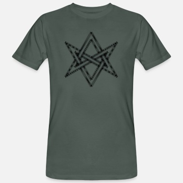 Equilibre Unicursal hexagram, Golden Dawn, Kabbalah, Magick - Men's Organic T-Shirt