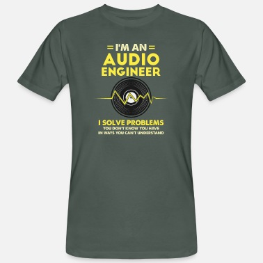 Audio Ich bin ein Audio Engineer Gift - Männer Bio T-Shirt