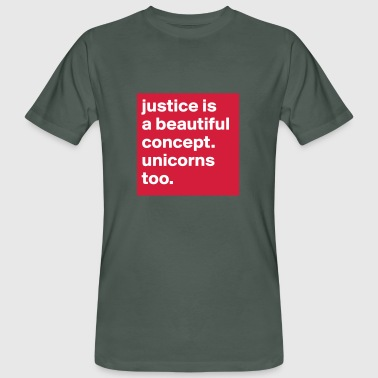 etcpp // Justice is a beautiful concept - Men's Organic T-Shirt