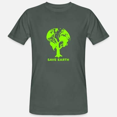 Milieubescherming Milieubescherming Behoud Earth Day Earth Planet - Mannen bio T-shirt