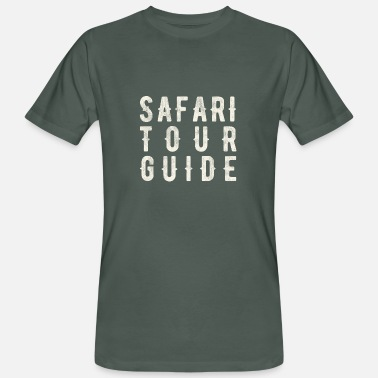 Guiden Safari Guide - Safari Tour Guide - Ekologisk T-shirt herr