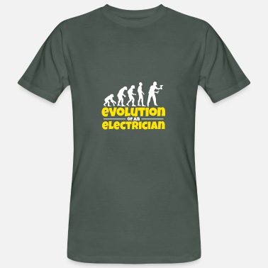 Lighting Technician Electrician Darwin Evolution Technician Gift - Men's Organic T-Shirt
