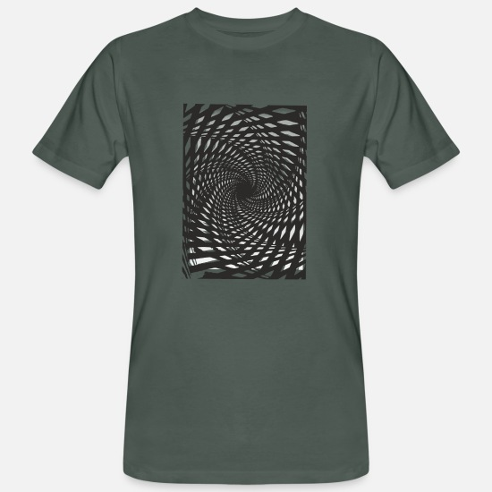 5d3cbd026 70s 80s 90s T-Shirts - Fraktalwirbel in Screen Print optics - Men's Organic  T