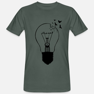 Bulb Outlaw, breaking out of the old light bulb - Men's Organic T-Shirt