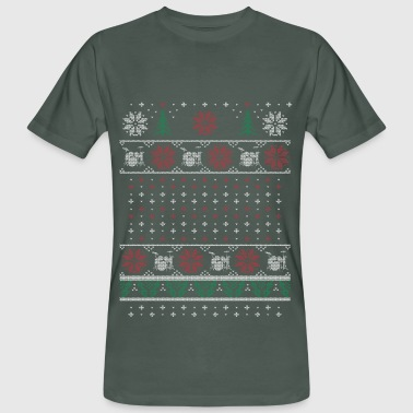 Ugly Xmas Drummer - T-shirt bio Homme