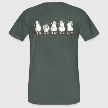 Funny White Sheep - Men's Organic T-Shirt