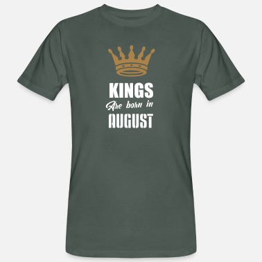 Vector kings are born in august - Men's Organic T-Shirt