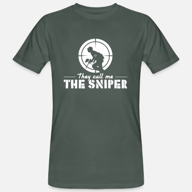 Design They Call Me The Sniper Gift - Men's Organic T-Shirt