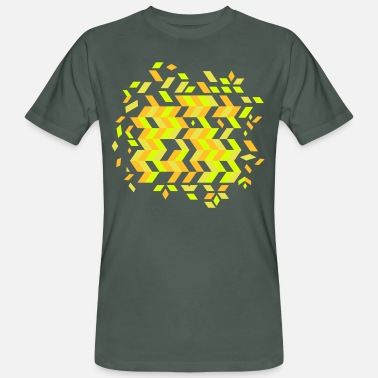 Pattern A herringbone pattern - Men's Organic T-Shirt