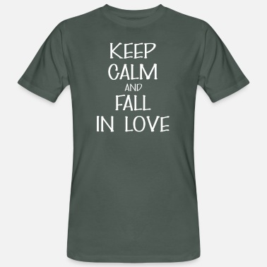 Falls In Love Fall in love - Keep calm And Fall in love - Men's Organic T-Shirt