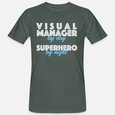 Visualization Visual Manager - Visual Manager by day, Superhero - Men's Organic T-Shirt