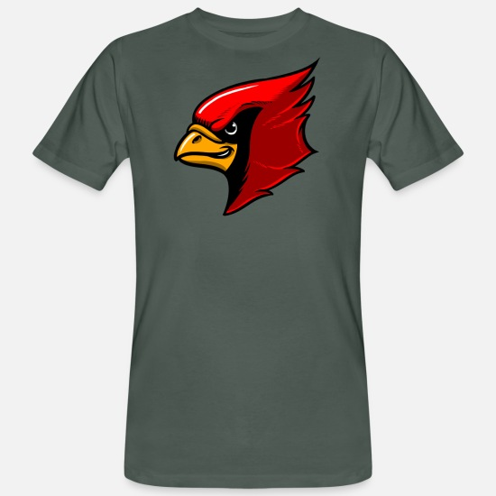 College T-shirts - Red Cardinal Team Mascot - Mannen bio T-shirt antraciet