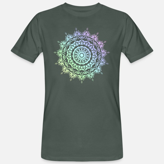 Gift Idea T-Shirts - Mandala pastel colors - Men's Organic T-Shirt dark grey