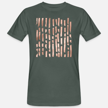 Rose Rose gold lines - Men's Organic T-Shirt
