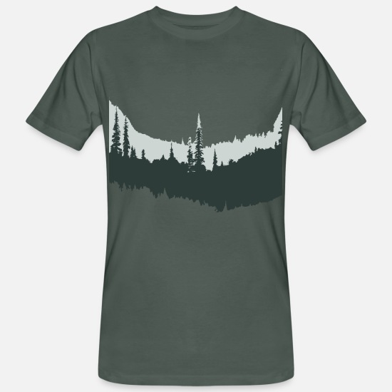 Forest T-Shirts - Forest in - Men's Organic T-Shirt dark grey