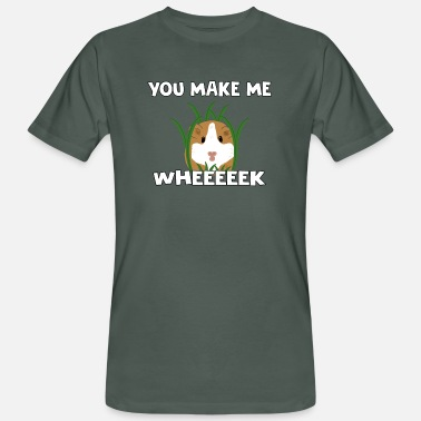 Pig Funny Guinea Pig You Make Me Wheeeeek - T-shirt bio Homme