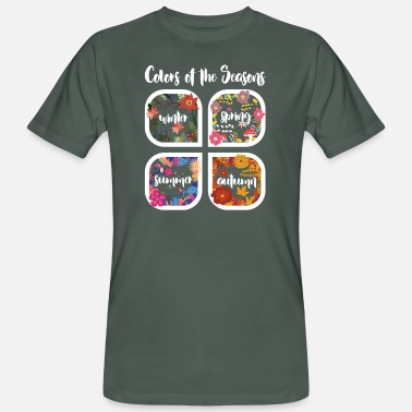 Colors Colors of the Seasons I Blumige Geschenkidee - Männer Bio T-Shirt