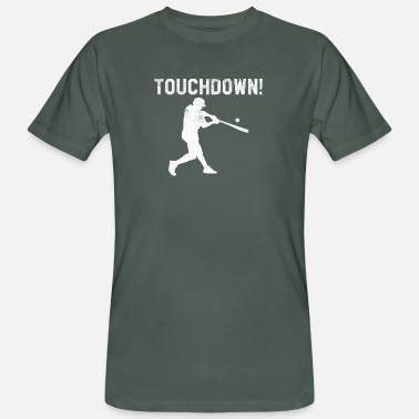 Touchdown Baseball Softball Touchdown Lustig Football - Männer Bio T-Shirt