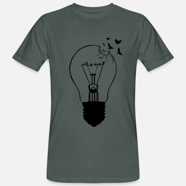 Freedom &amp Outlaw, breaking out of the old light bulb - Men's Organic T-Shirt