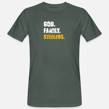 Steelers God Family Steelers T Shirt - Männer Bio T-Shirt