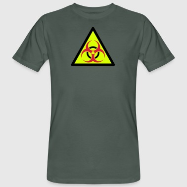 warning triangle biohazard 3 Color Vector - Men's Organic T-shirt
