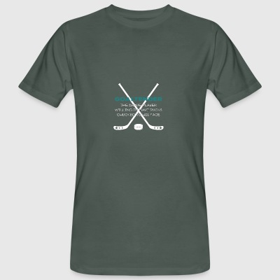 Hockey: Goaltender - The Brave player Willing - Men's Organic T-shirt