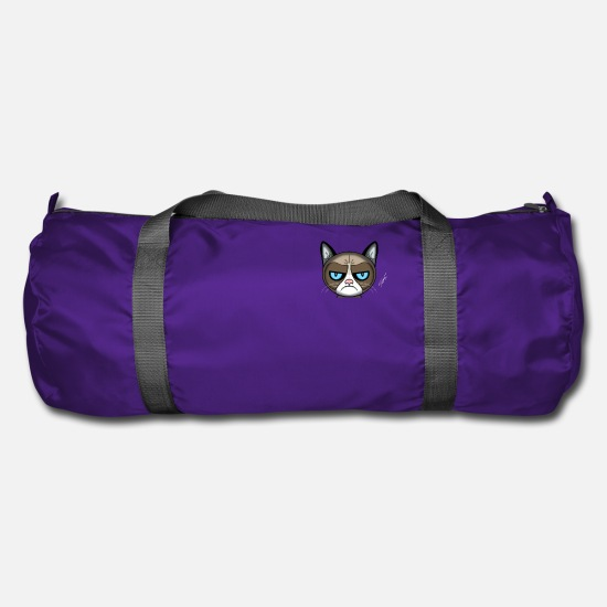 Meow Bags & Backpacks - angry cat - Duffle Bag purple