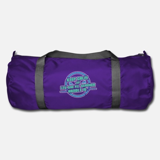 Physical Education Bags & Backpacks - Sports Teacher Sport Fitness Gift - Duffle Bag purple