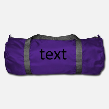 Texte text - Sac de sport